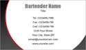 Bartender Business Card